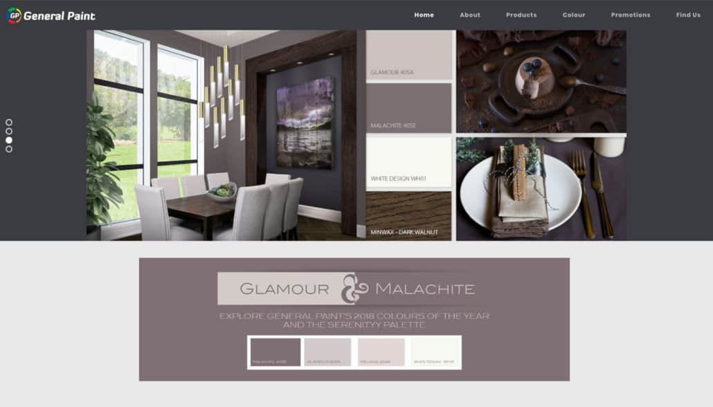 General Paint web design
