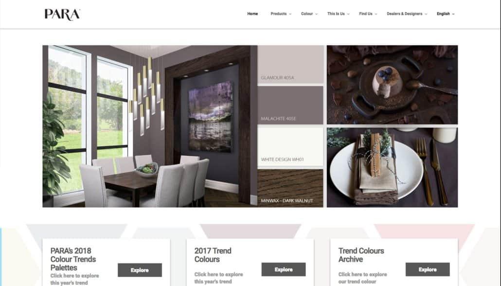 Para web design
